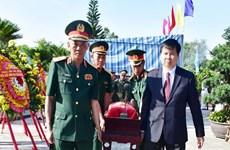Thua Thien-Hue : Inhumation des restes de 11 soldats volontaires trouvés au Laos