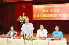 Le secrétaire général du PCV rencontre des électeurs de Hanoï