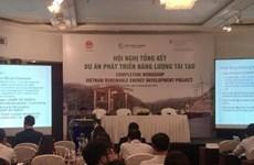Bilan du programme REDP sur les énergies renouvelables
