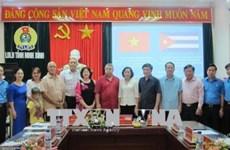 """Une délégation de la """"Centrale des Travailleurs Cubains"""" à Ninh Binh"""