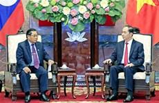 Le président exhorte à booster la coopération parlementaire Vietnam-Laos
