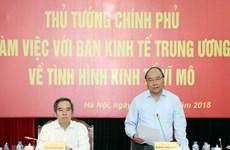 Le PM Nguyên Xuân Phuc travaille avec la Commission économique centrale