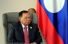 Le secrétaire général du PRPL reçoit la délégation du Parti communiste du Vietnam