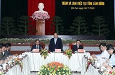 Le PM propose un modèle du triangle de développement économique pour Lam Dong