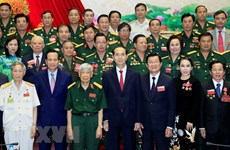 Le président exhorte les vétérans à s'engager sur le front socio-économique