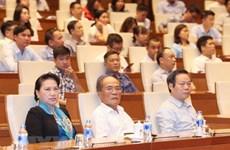 La présidente de l'AN assiste à un débat sur le Président Ton Duc Thang