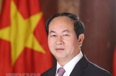 Le président Tran Dai Quang part pour des visites d'Etat en Ethiopie et en Egypte
