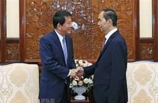 Le chef de l'Etat reçoit l'ambassadeur spécial Vietnam-Japon, Japon-Vietnam
