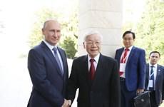 Le secrétaire général du PCV s'entretient avec le président russe