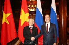 Entrevue entre le leader du PCV et le Premier ministre russe