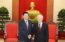 Le leader du PCV reçoit le Premier ministre laotien
