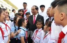 Le président Trân Dai Quang dans le cœur des électeurs de Hô Chi Minh-Ville