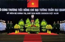 L'hommage des amis internationaux au président Trân Dai Quang