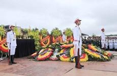 La cérémonie d'enterrement du président Tran Dai Quang à Ninh Binh