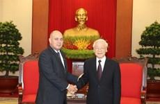 Le secrétaire général Nguyen Phu Trong reçoit une haute délégation cubaine