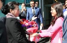 La présidente de l'Assemblée nationale arrive en Turquie