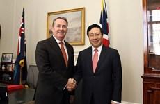 Le vice-PM et ministre des AE Pham Binh Minh en visite au Royaume-Uni