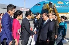 Le PM Nguyen Xuan Phuc est arrivé à Vienne pour sa visite officielle en Autriche