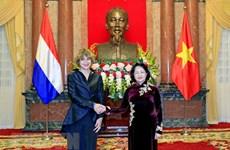 La présidente p.i du Vietnam Dang Thi Ngoc Thinh reçoit de nouveaux ambassadeurs