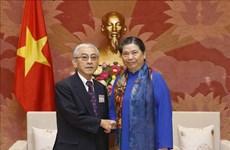 La vice-présidente permanente de l'AN Tong Thi Phong reçoit des anciens députés japonais