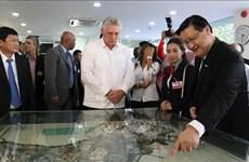 Le président cubain étudie le modèle de technopole de Ho Chi Minh-Ville