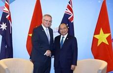 Sommet de l'ASEAN: le PM Nguyen Xuan Phuc rencontre son homologue australien