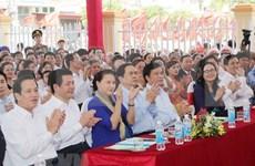 La présidente de l'AN à la Fête de la grande union à Thai Binh