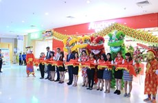 Inauguration du supermarché Auchan Crescent Mall