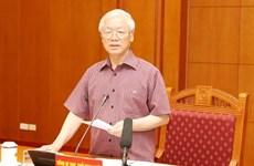 Le sous-comité sur les documents du 13e Congrès national du PCV se réunit