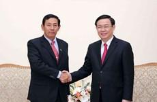 Le vice-PM Vuong Dinh Huê reçoit la délégation de l'USDP du Myanmar