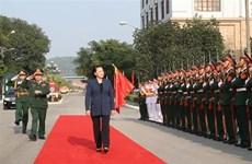 La présidente de l'Assemblée nationale se rend dans la Région militaire 1