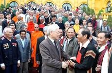 Le secrétaire général et président reçoit des personnalités ethniques exceptionnelles