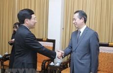 Le vice-PM Pham Binh Minh reçoit le nouvel ambassadeur de Chine