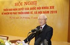Le secrétaire général et président fixe quatre tâches essentielles pour 2019