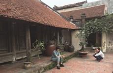Architecture traditionnelle originale des maisons du delta du fleuve Rouge