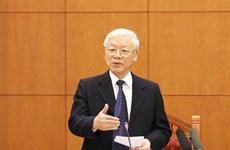 Réunion du sous-comité chargé des documents du XIIIe Congrès national du Parti