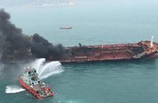 Hong Kong: l'aide s'organise pour les sinistrés de l'incendie d'un pétrolier