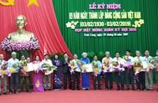 Célébration de l'anniversaire de la fondation du Parti à Vinh Long