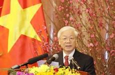Le secrétaire général et président Nguyên Phu Trong formule ses vœux 2019