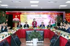La présidente de l'Assemblée nationale rend visite à Vietcombank