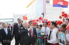 Le SG du Parti et le président entame sa visite d'Etat au Cambodge