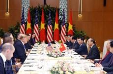 Nguyên Xuân Phuc et Donald Trump saluent les progrès des relations Etats-Unis - Vietnam
