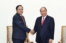 Le PM reçoit le ministre de la Coopération internationale du Myanmar