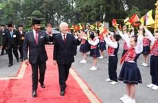 Cérémonie d'accueil officielle en l'honneur du sultan du Brunei Haji Hassanal Bolkiah