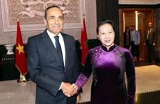 Entretien entre la présidente de l'AN vietnamienne et le président de la Chambre des Représentants marocaine