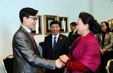 La présidente de l'AN rencontre les organisateurs du Vietnam Global Leaders Forum