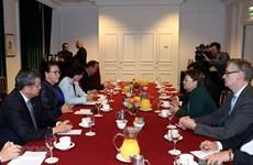 La présidente de l'AN du Vietnam rencontre des dirigeants du groupe Safran