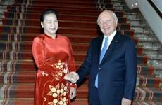 La présidente de l'AN rencontre le président du Sénat belge