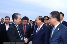 Le Premier minister Nguyen Xuan Phuc rentre de Chine