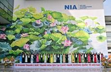 Design : deux fresques à l'aéroport de Noi Bai primées lors d'un concours en Italie
